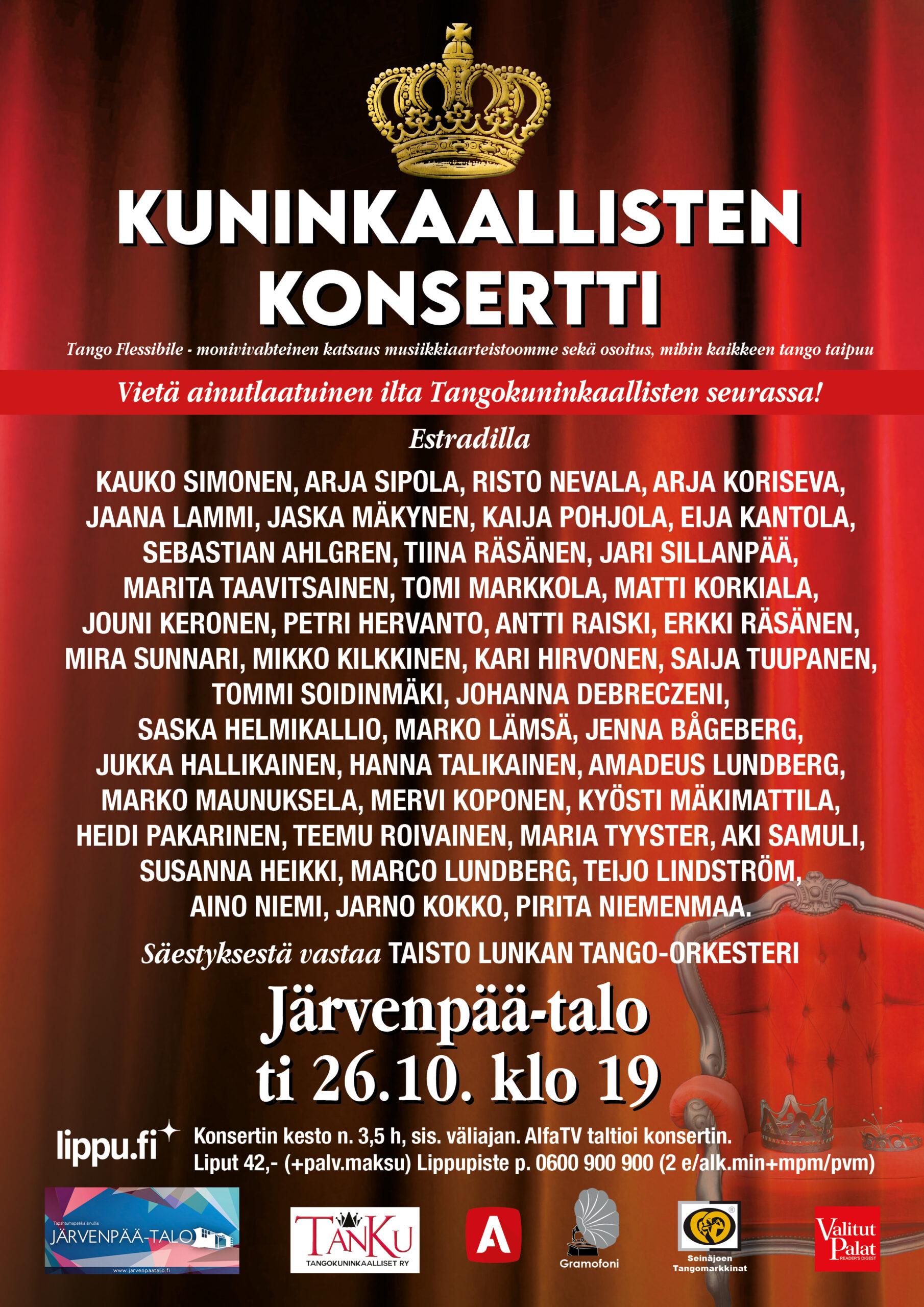 Kuninkaallisten konsertti JärvenpäässäA